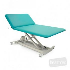 HT Neurological Bariatric Bobath Table (1210 wide) – Two Section w/Castors & Electric Backrest (350KG SWL)