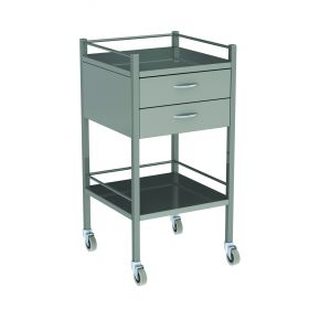Instrument Trolley - 2 Drawer Stainless Steel Model AX 066