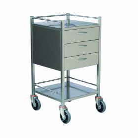 Instrument Trolley - 3 Drawer Stainless Steel Model AX 076