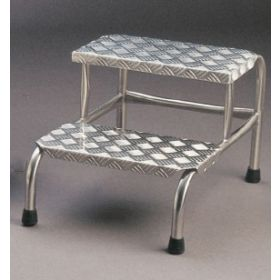 Two Step Stool Aluminium Tread AX 405