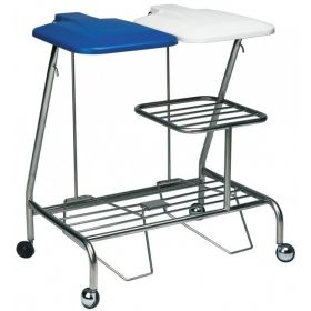 Double Linen Skip - foot operated lid With Optional Half Height Shelf  AX 300HHS